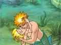 لعبة حورية البحر في قبلة على الانترنت